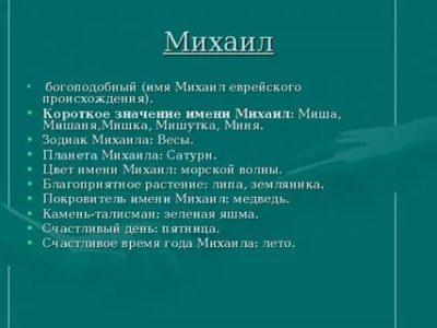 Какой национальности имя Михаил