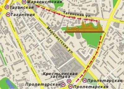 Как проехать до храма Матроны Московской