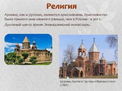 Какую религию исповедуют армяне