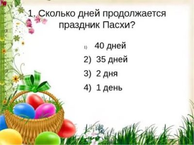 Сколько дней продолжается праздник Пасхи
