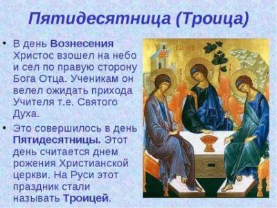 Когда будет Вознесение и Троица