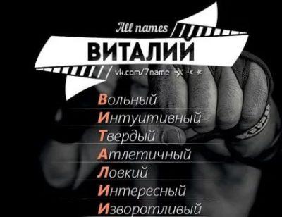 Как правильно пишется имя Виталий или Виталик