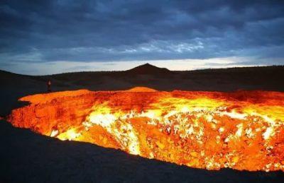Где находятся врата ада вечно горящий кратер Дарваза