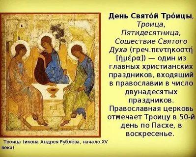 Почему называется День Святой Троицы