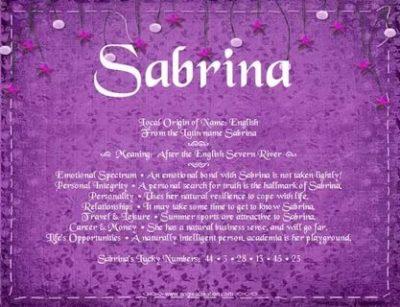 Что означает имя Сабрина у мусульман