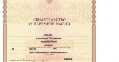 Какие документы нужны для смены имени