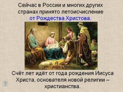 Когда началось летоисчисление от Рождества Христова