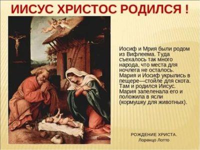 В каком месте родился Иисус