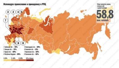 Сколько людей исповедуют православие