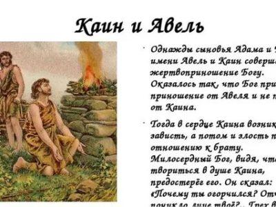 Как звали сыновей Адама и Евы какова их судьба