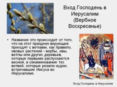 Почему празднуют Вербное воскресенье