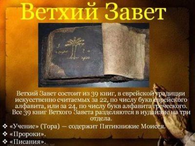 Когда был создан Ветхий Завет