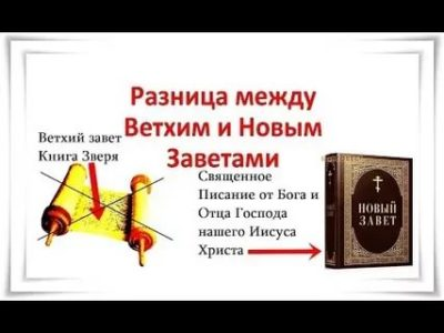 В чем разница между Ветхим и Новым Заветом