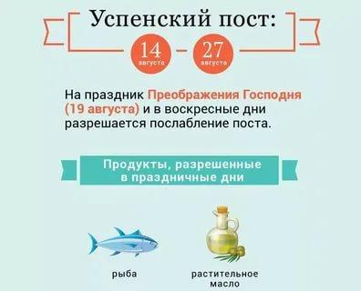 Можно ли есть рыбу во время Успенского поста