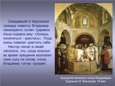 В каком городе Владимир крестил Русь