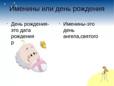 В чем разница между днем рождения и днем ангела