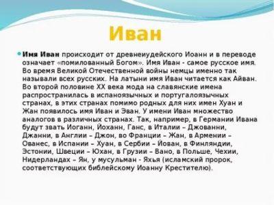Что означает имя Иван как произошло